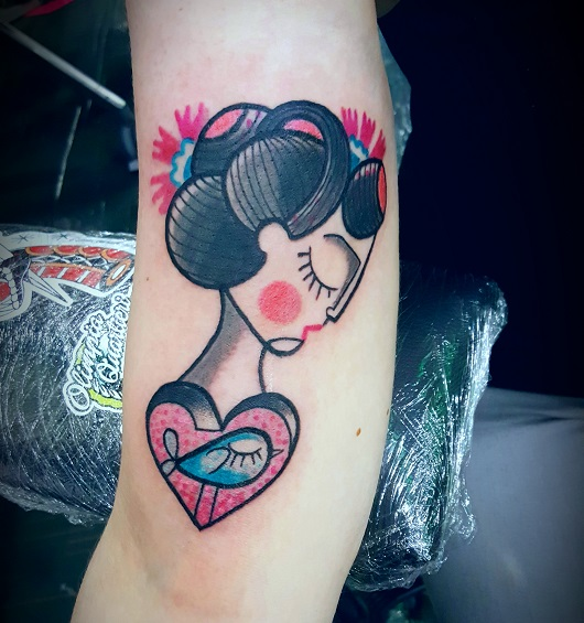 Tatuaggi Geisha braccio Modena