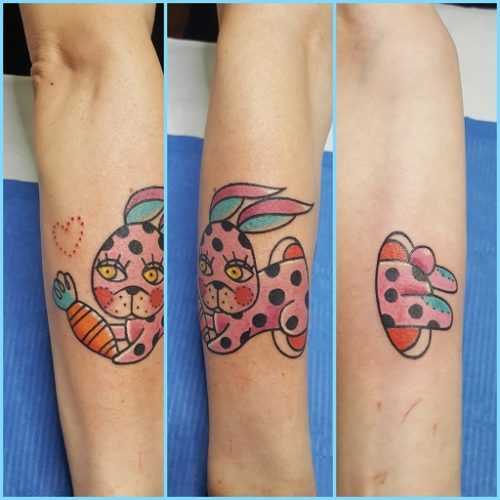 Tatuaggi old school Modena Pink Rabbit