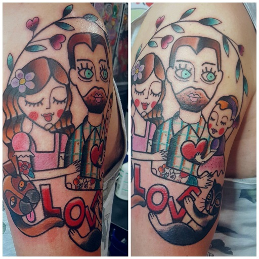 Tatuaggio famiglia Modena