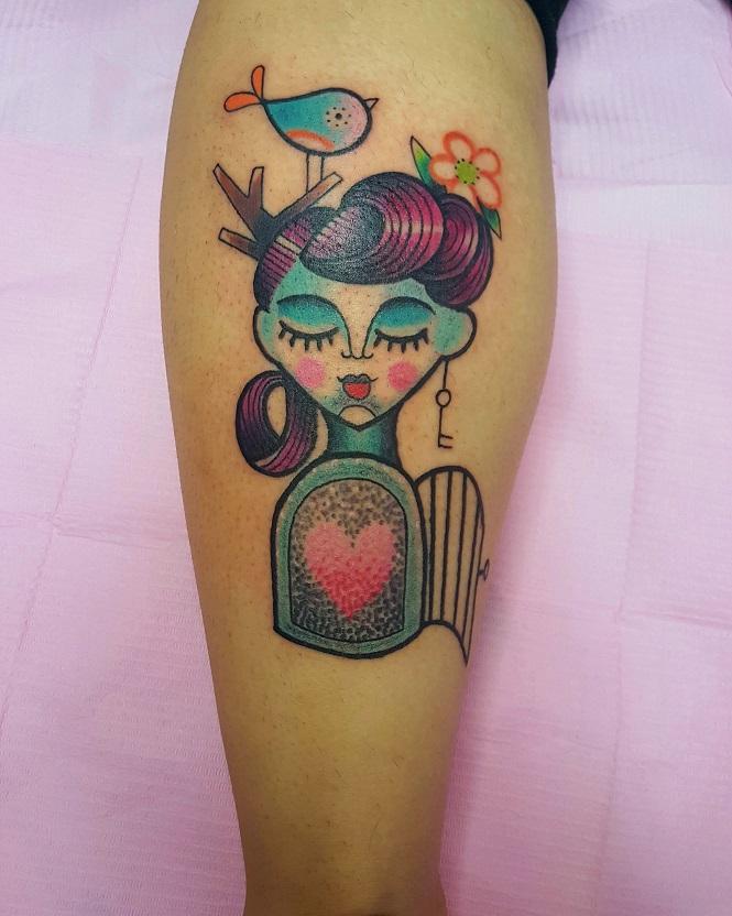 Tatuaggio gabbia e uccellino Modena