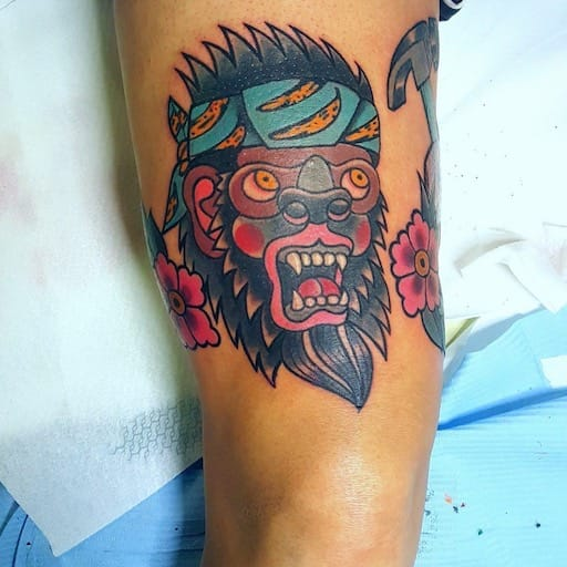 Tatuaggio gorilla Old School Modena
