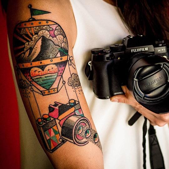 Tatuaggio Macchina Fotografica