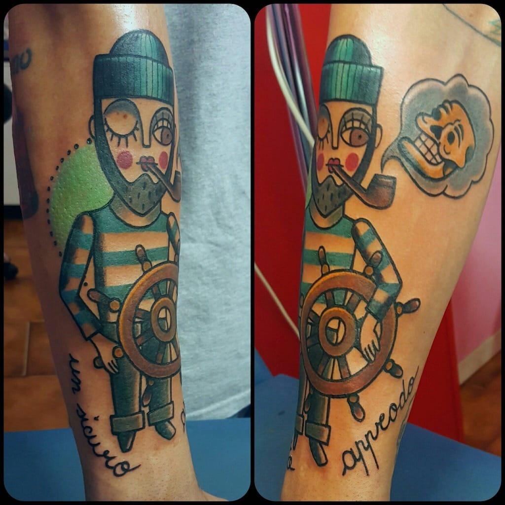 Tatuaggio marinaio Old School