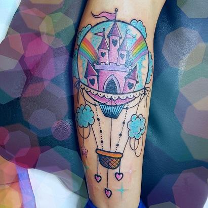 Tatuaggio Mongolfiera braccio